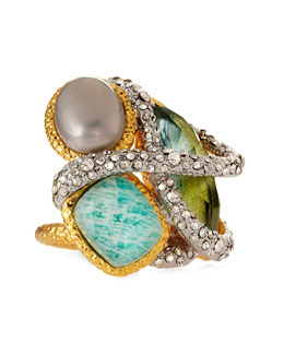 Alexis Bittar Maldivian Multi-Stone Cocktail Ring