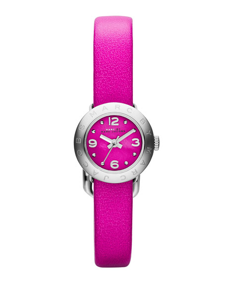 20mm Amy Analog Watch with Pink Strap, Stainless