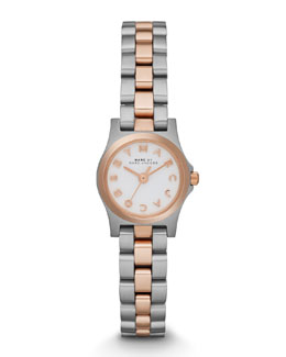 MARC by Marc Jacobs Henry Dinky Two-Tone Analog Watch, Stainless/Rose