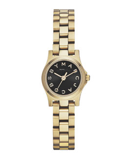 MARC by Marc Jacobs Henry Dinky Analog Watch, Light Golden