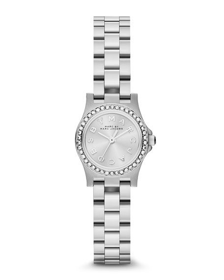 Henry Dinky Pave-Crystal Watch, Stainless