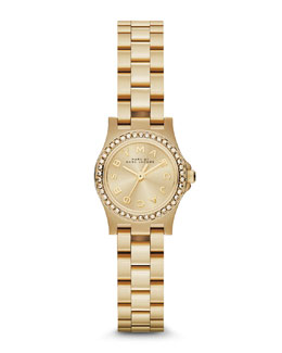 MARC by Marc Jacobs Henry Dinky Pave-Crystal Watch, Yellow Golden