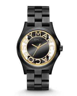MARC by Marc Jacobs Henry Skeleton Watch, Black