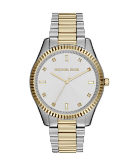 Michael Kors  Two-Tone Stainless Steel Blake Three-Hand Glitz Watch