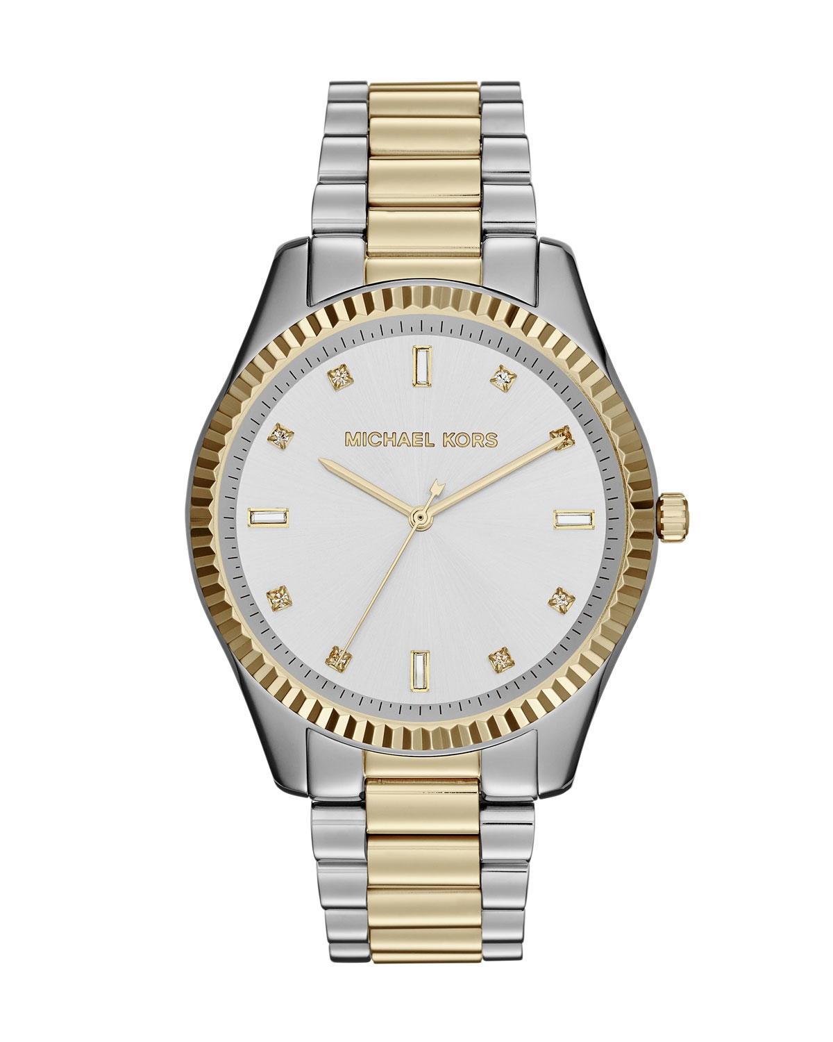 Two-Tone Stainless Steel Blake Three-Hand Glitz Watch