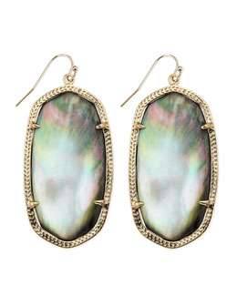 Kendra Scott Gold-Plated Danielle Earrings, Black