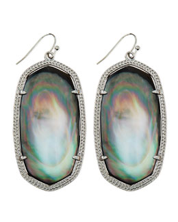 Kendra Scott Rhodium Danielle Earrings, Black