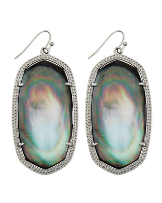 Rhodium Danielle Earrings, Black