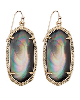 Kendra Scott Gold-Plated Elle Earrings, Black