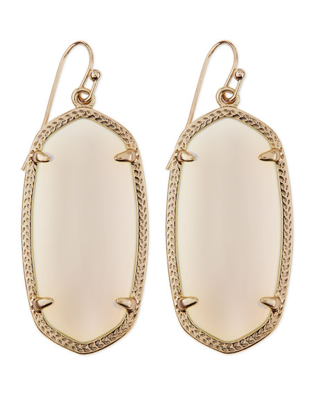 Gold-Plated Elle Earrings, White