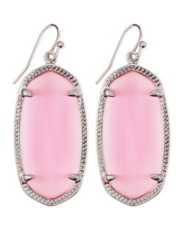 Kendra Scott Rhodium Elle Earrings, Pink
