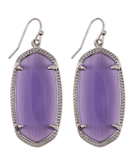 Rhodium Elle Earrings, Purple
