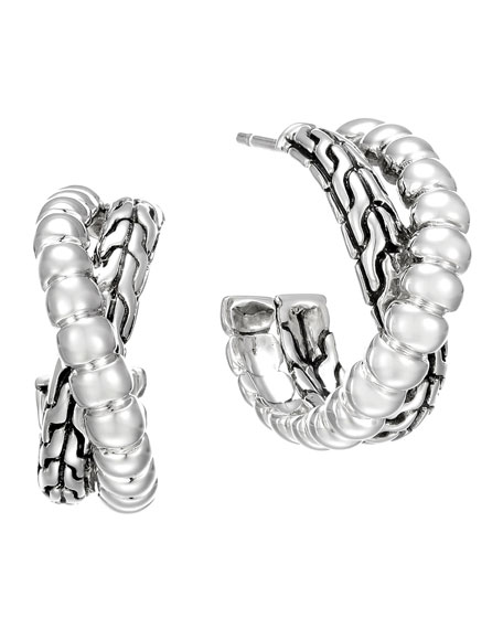 John HardyClassic Chain Silver Small Twist Hoop Earrings