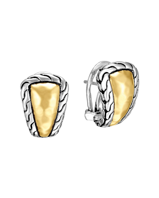 John Hardy Clic Chain Palu Silver Gold Shrimp Earrings Neiman Marcus