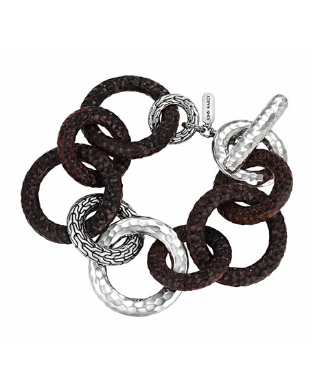 Palu Silver & Rosewood Link Bracelet