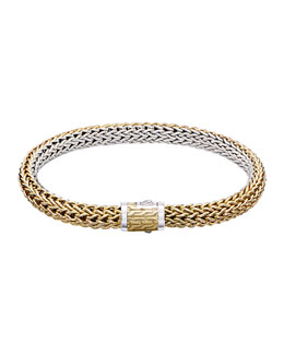 John Hardy Classic Chain Small Reversible Silver & Gold Bracelet