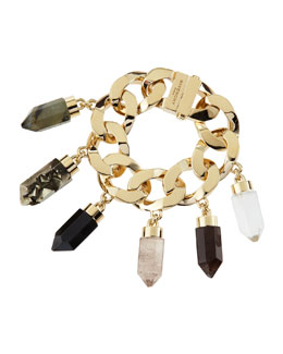 Givenchy Point Crystal Charm Bracelet