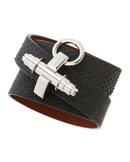 Obsedia Triple-Wrap Bracelet, Black