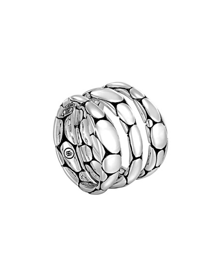Kali Sterling Silver Stackable Rings, Set of 3