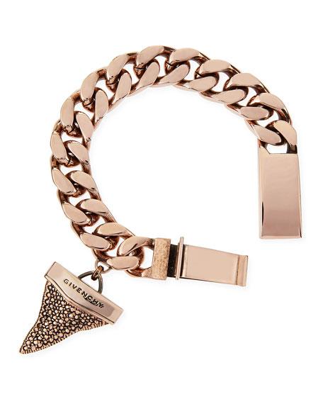 Rose Golden Pave Crystal Shark Tooth Bracelet