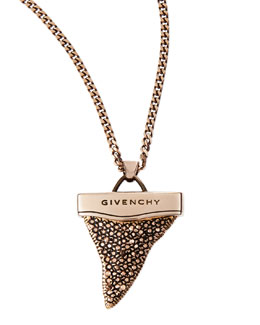 Givenchy Small Sharktooth Necklace, 36""