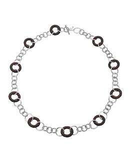"John Hardy Rosewood-Station Silver Sautoir Link Necklace, 36"""