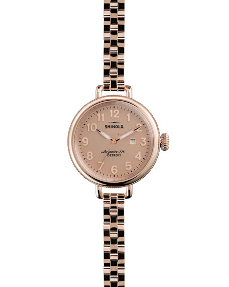 Shinola The Birdy Rose Golden Watch, 34mm