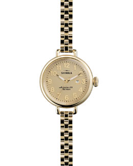 Shinola The Birdy Yellow Golden Watch, 34mm