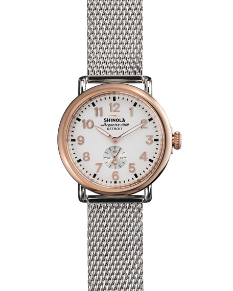 The Runwell Rose Golden Watch with Stainless Strap, 41mm