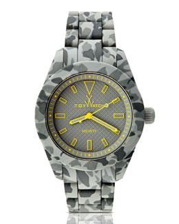 Toy Watch Velvety Camo Silicone Watch, Gray