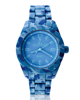 Toy Watch Velvety Camo Silicone Watch, Blue