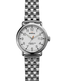 Shinola The Runwell Stainless Watch with Bracelet Strap, 41mm