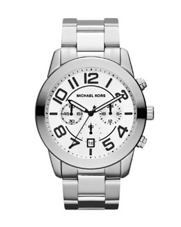 Michael Kors  Men's Silver Color Chronograph Watch