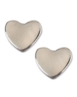 Jules Smith Silver-Plated Mini Heart Stud Earrings
