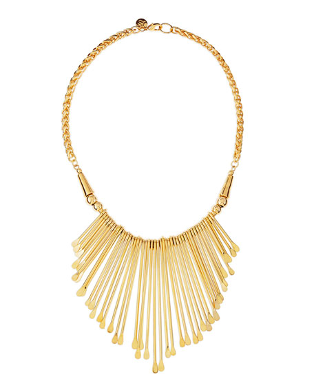 Golden Viva Glam Fringe Necklace