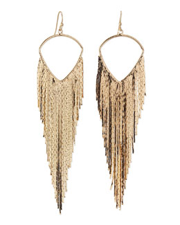 Jules Smith Mesh Wave Earrings, Gold