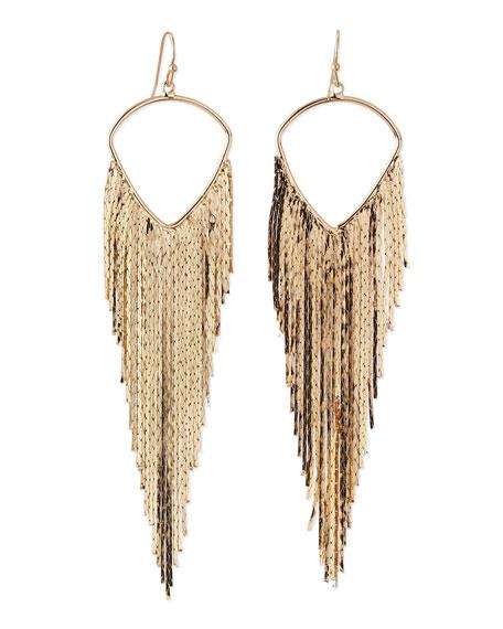 Mesh Wave Earrings, Gold