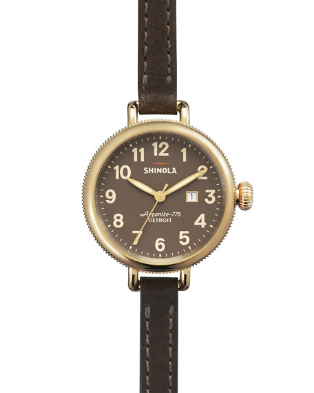 The Birdy Polished Golden Double-Wrap Watch, 34mm
