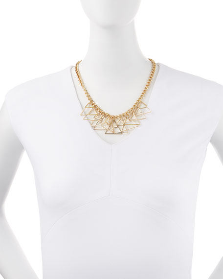 Golden Triangle Fringe Necklace