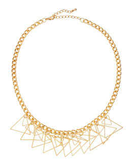 Jules Smith Golden Triangle Fringe Necklace