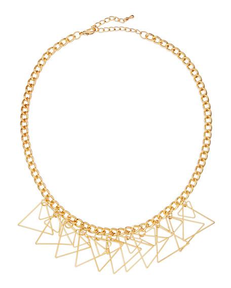 Golden Triangle Fringe Necklace