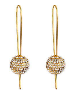 Vita Fede 24k Gold-Plated Crystal-Sphere Earrings