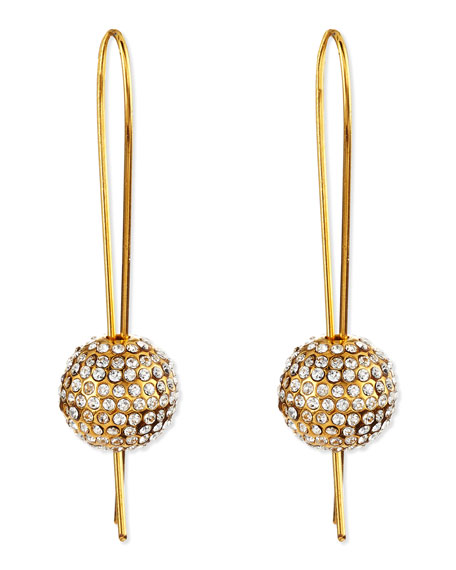 24k Gold-Plated Crystal-Sphere Earrings
