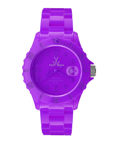 39mm Plasteramic Watch, Violet Purple
