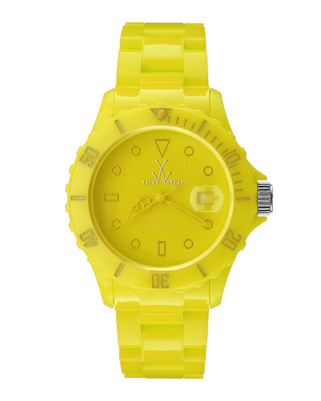 39mm Plasteramic Watch, Yellow