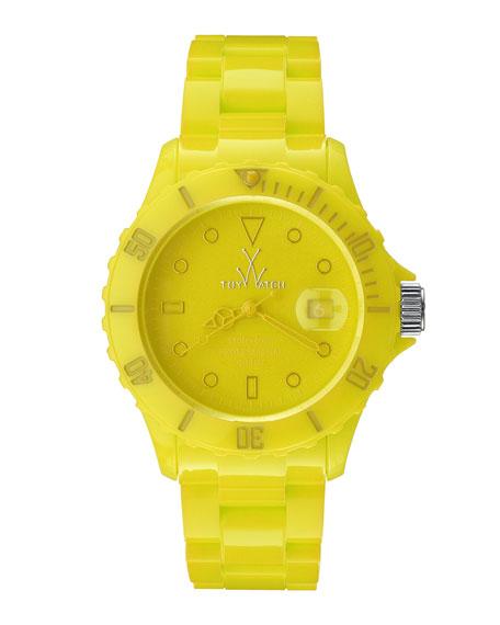 Toy Watch 39mm Plasteramic Watch, Yellow