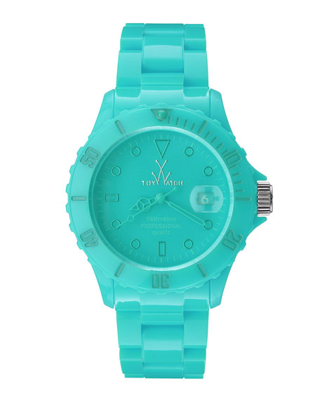 39mm Plasteramic Watch, Aqua