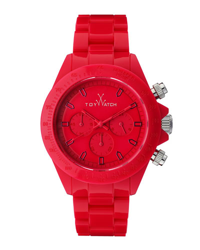 Toy Watch Plasteramic Chronograph Watch, Red