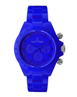 Toy Watch Plasteramic Chronograph Watch, Blue