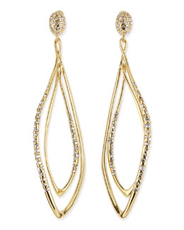 Alexis Bittar Pave Yellow Golden Orbiting Earrings